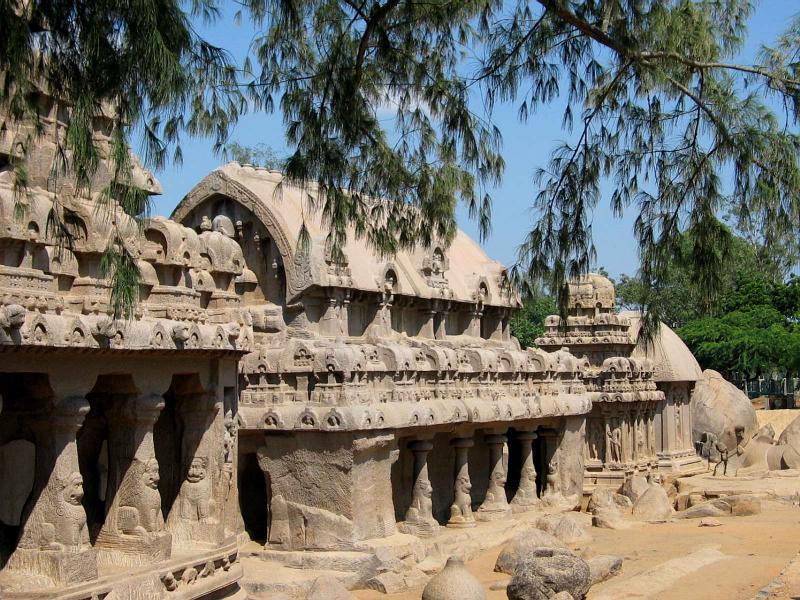 Mamallapuram_Five_Rathas